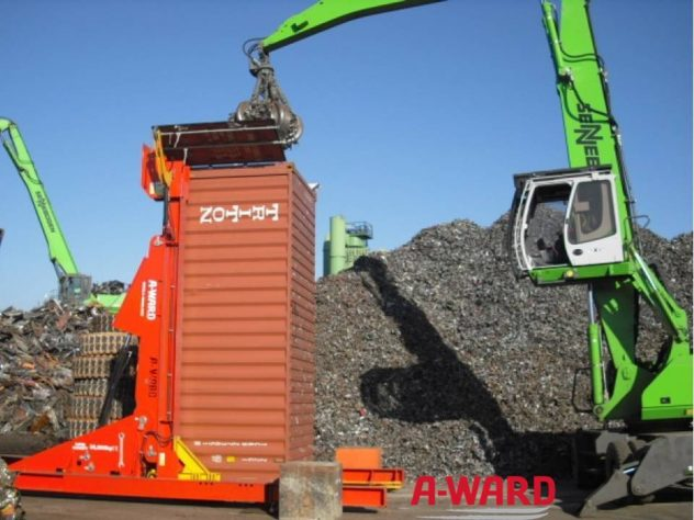 Container Loader untuk Recycling industri
