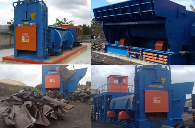 Taurus stationary shear baler untuk industri scarp metal
