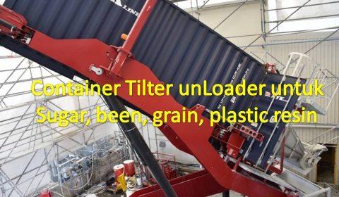 Container Tilter Unloader for been sugar grain detergent plastic resin industry
