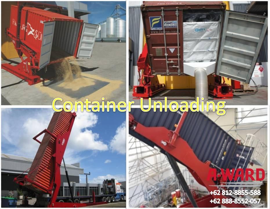 Container Unloading untuk Pembongkaran Bungkil Sawit