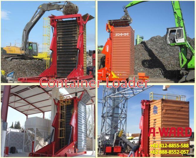 Container loader alat bantu memuat barang curah kering