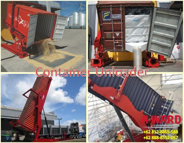 Container unloader alat bongkar muat curah kering