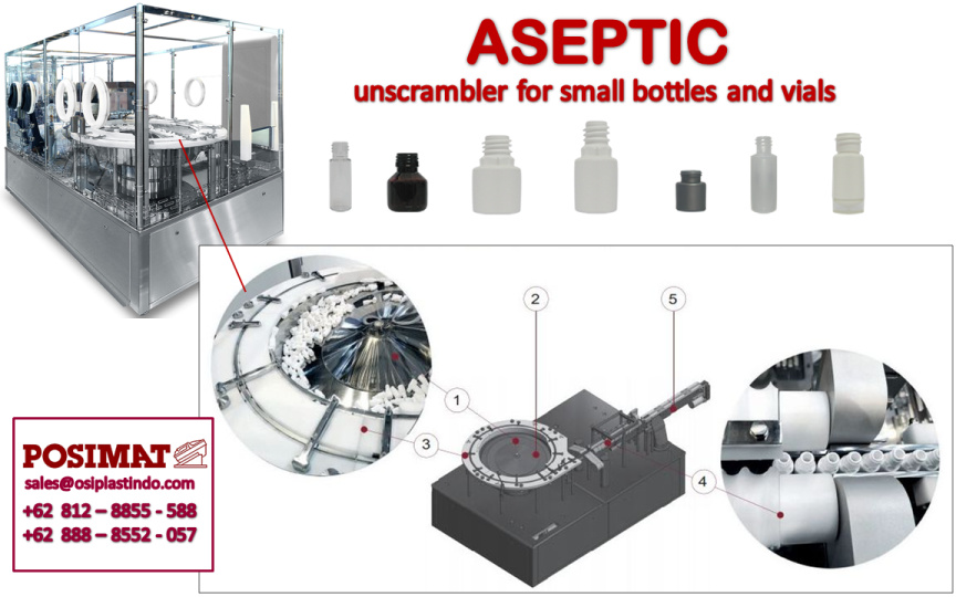 GMP Standard Unscrambler Type Aseptic for Small bottles