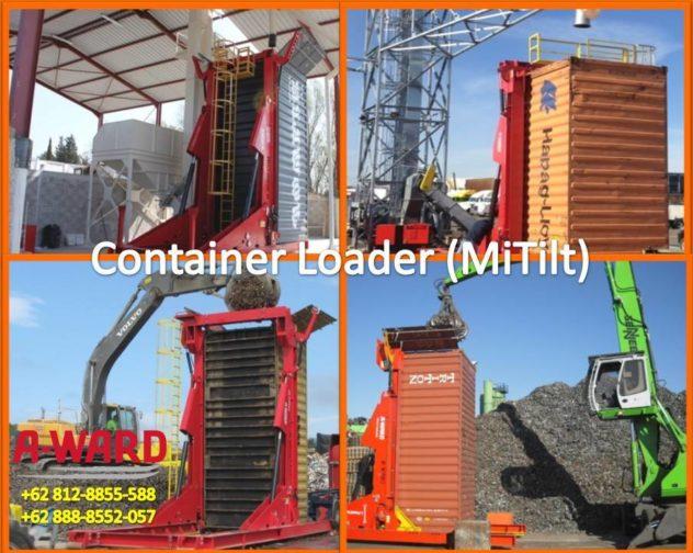 Alat Bongkar Muat kontainer Curah Kering container loader