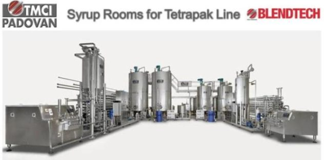 Complete Syrup Room with Complete Beverage Preparation for Tetrapax lines