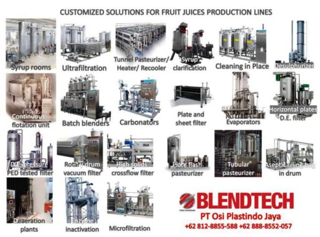 Turnkey Project for Fruit Juice Production Line